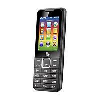 Телефон кнопочный на 2 SIM с мощным аккумулятором Fly FF243 чёрный