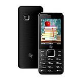 Телефон кнопочный мобильный на 2 SIM с мощным аккумулятором Fly FF243 чёрный, фото 2