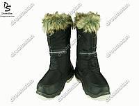 Женские сапоги черные (Код: ЖББ-51)