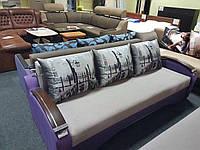Комфортный диван Сити с деревянными подлокотниками, фото 1