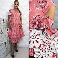 Платье (50, 52, 54, 56) — марлевка от компании Discounter.top