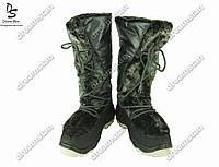Женские сапоги черные (Код: ЖББ-60)