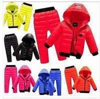 Детский демисезонный костюм куртка с ушками и штаны плащевка на синтепоне размеры 86-92 98-104 110-116 122-128