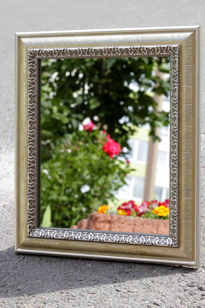 Зеркало в раме, зеркало настенное, зеркало настольное 270х315 мм