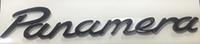 Надпись Panamera металлическая черная  195х23 мм