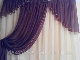"""Кухонные шторы """"Кофеин"""" №4, готовый комплект, фото 2"""