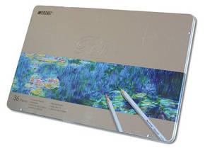 Набор цветных карандашей Marco Raffine,36 цветов в металлическом пенале 7100-36TN