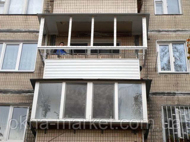 Вынос балкона по подоконнику Киев бульвар Дарницкий 4