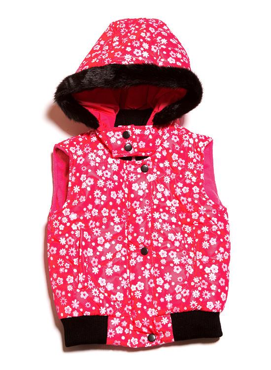 Теплая детская жилетка для девочки (98-140)