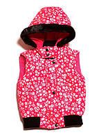 Теплая детская жилетка для девочки (98-140), фото 1