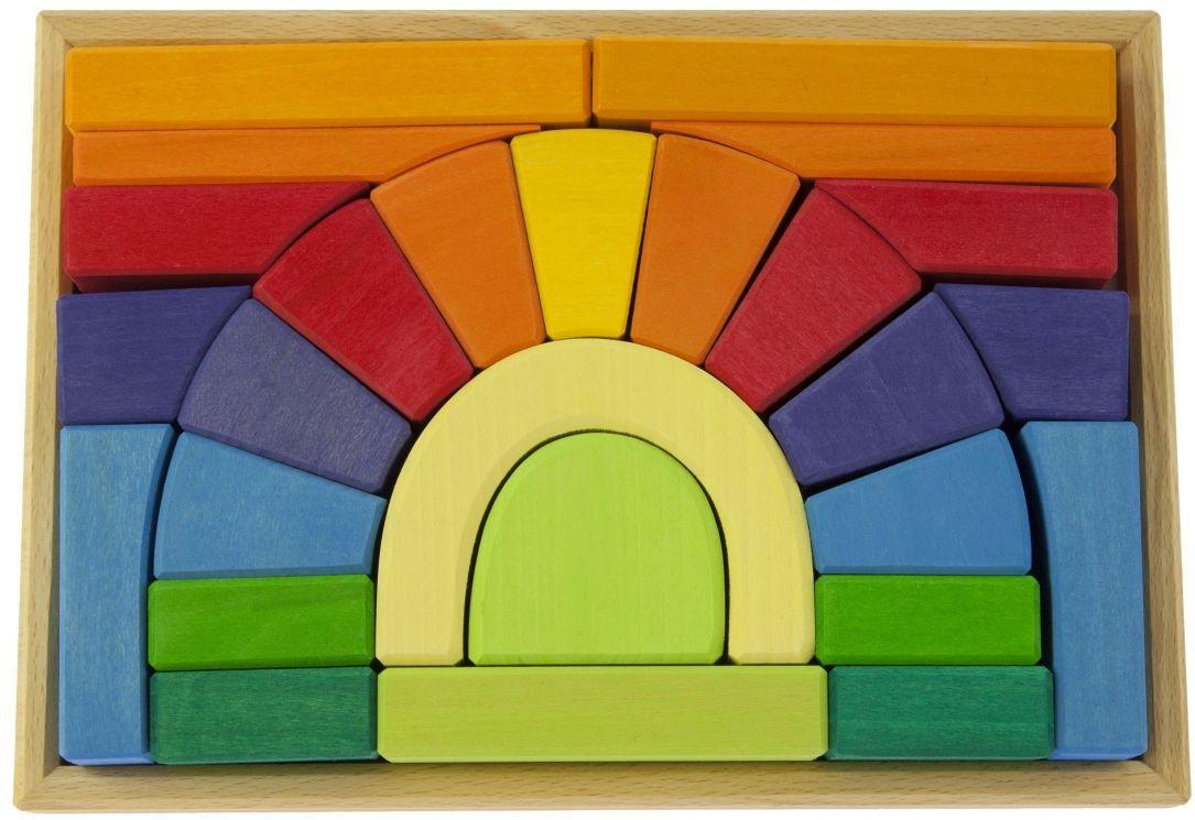 Разноцветный деревянный конструктор Мост nic NIC523334