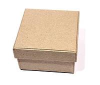 Коробочка квадратная маленькая, папье-маше, 7х7х4см