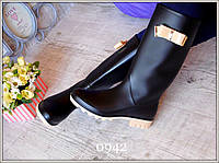 Женские сапоги для непогоды бантик