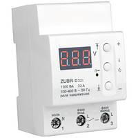 Реле напряжения с термозащитой ZUBR 32 А, 7 000 ВА