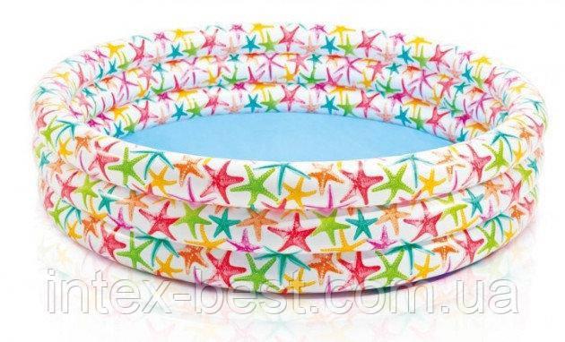 Бассейн надувной Разноцветный всплеск 56440 (168-41) см, фото 2