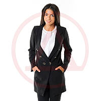 Длинный черный пиджак женский 8983 женские пиджаки недорого в интернет-магазине
