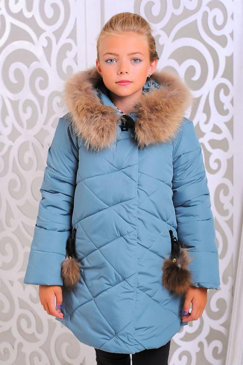 Зимняя куртка для девочки Вика-дочка Разные цвета