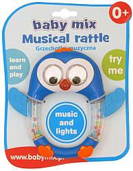 Погремушка пластиковая с музыкой Baby Mix KP-0682 Пенгвинчик