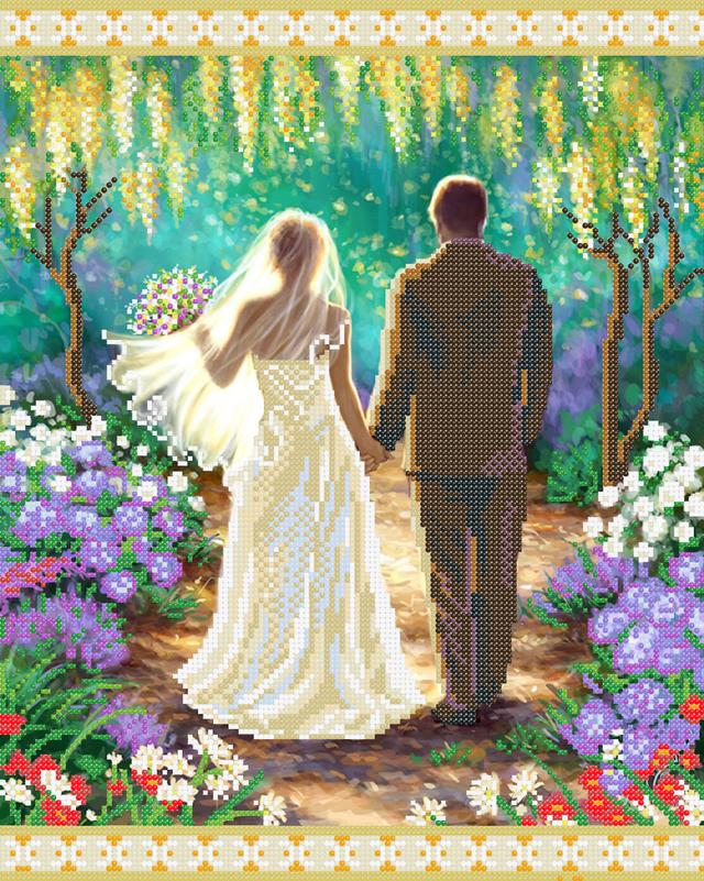 Схема для вышивки бисером пара любовь