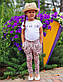 """Стильные детские летние штанишки с мотнёй """"Цветочки"""" в расцветках, фото 4"""