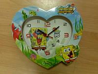 Часы сердце Губка Боб
