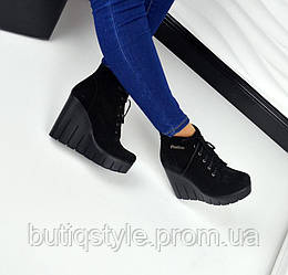 36 размер! Демисезонные ботиночки Fashion замш на байке