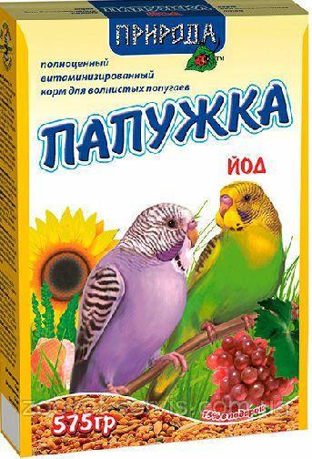 Корм для волнистых попугаев «Папужка йод»