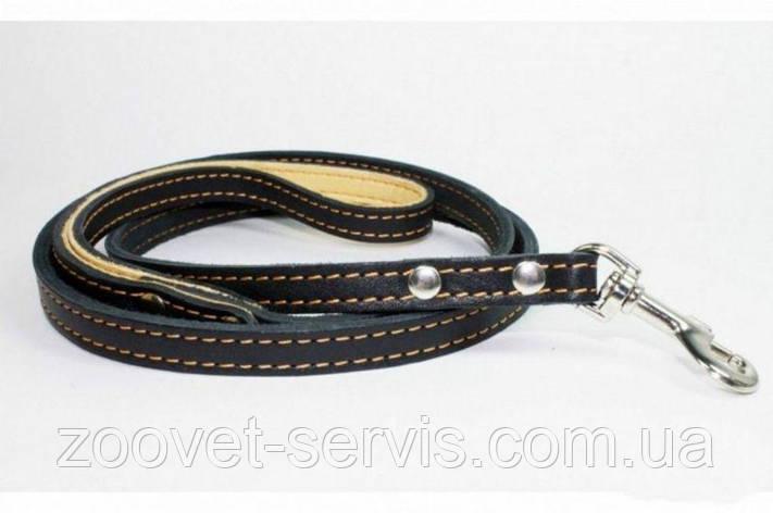 Поводок двойной с прошивкойдля собакКоллар Collar 0474, фото 2