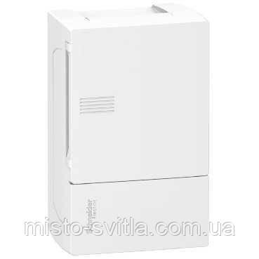 Щит Mini Pragma 1ряд / 8 модулів навісний біла дверцята MIP12108 Schneider Electric міні прагма Шнайдер