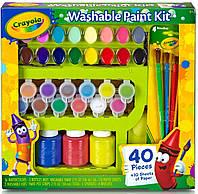 Большой набор для творчества с красками и кисточками, 40 элементов, Crayola
