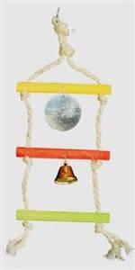 Подвеска тройная сизал для попугаев сколокольчиком изеркалом Д004/2, фото 2