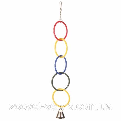 Игрушка для попугаев 5 колец с колокольчиком Trixie 5235