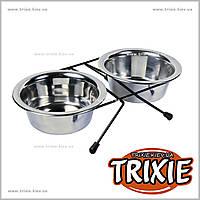 Подставка с мисками для кошек, TRIXIE (Размер: 2 × 0.45 l/ø 12 см)