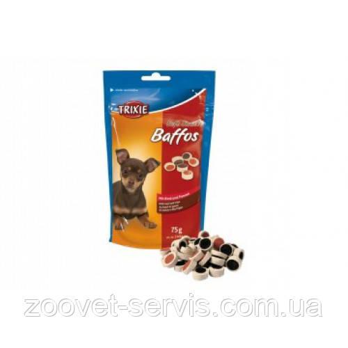 Лакомство для собак Baffos говядина с желудком, Трикси, 75 г 31494