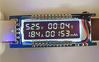 Тестер напряжения, силы тока и емкости аккумулятора KEWEISI KWS-V20