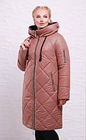 Зимнее пальто-пуховик   М-191 мокко (р.50-66)