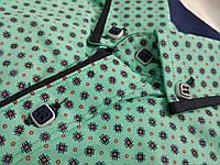 Модные и стильные детские рубашки мятного цвета от 9 до 10 лет. Производство X-PORT-Турция. (Осень-2017г.)