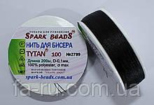 Нить для бисера TYTAN 100 №2799. Черный 200 м