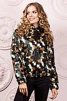 """Короткая демисезонная женская куртка на синтепоне """"Casual+"""" с капюшоном (6 цветов)"""