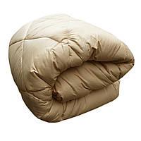 Одеяло двуспальное 180/220 шерсть верблюжья натуральная, ткань тик