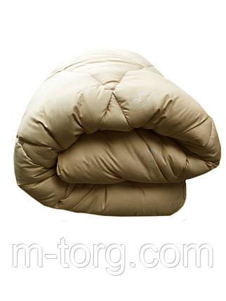 Одеяло двуспальное 180/220 шерсть верблюжья натуральная, ткань тик, фото 2