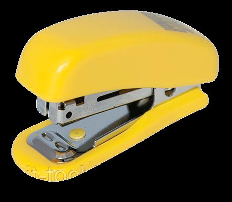 Степлер пластиковый МИНИ, 10л.,(скобы №10), желтый bm.4125-08