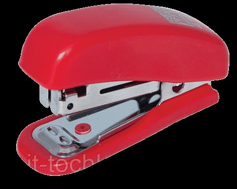 Степлер пластиковый МИНИ, 10л.,(скобы №10), красный bm.4125-05