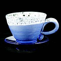 Чайная пара чашка кофейная керамическая ручной работы Эспрессо 80мл с блюдцем 9610