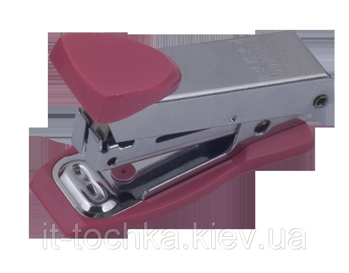 Степлер металлический мини buromax bm.4151-10 розовый 12 листов скобы №10