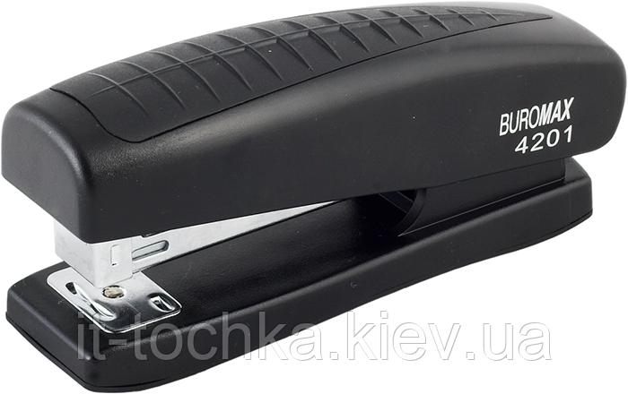 Степлер пластиковый, 20л., (скобы №24; 26), черный bm.4201-01