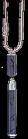 Подарочный набор langres ls.402027-01 черная ручка шариковая lace с цепочкой 70см в подарочном футляре
