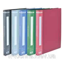 Папка пластиковая c 20 файлами А4, синий bm.3606-02