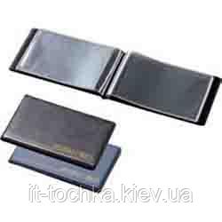 Визитница для 24 визиток, pvc, темно-синяя 0304-0001-02