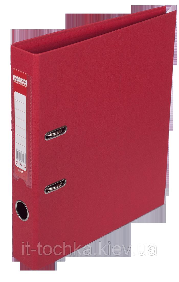 Регистратор двухсторонний А4 elite, ширина торца 50мм, красный bm.3002-05c